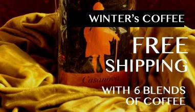 Free shipping with 6 blends of coffee